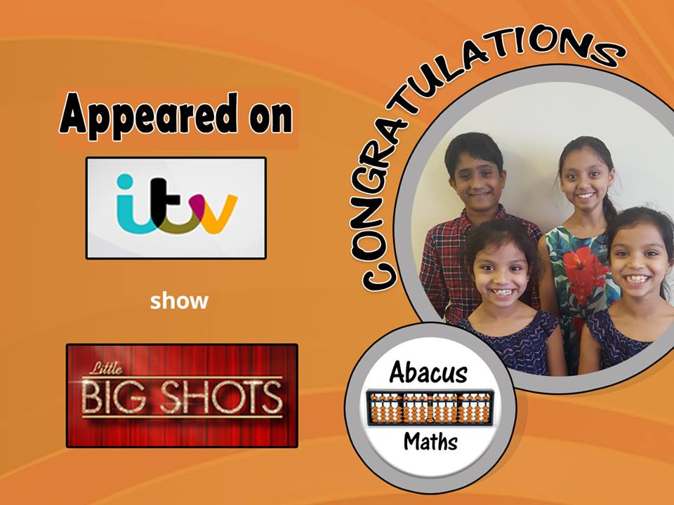 abacus maths students itv appearance little big shots