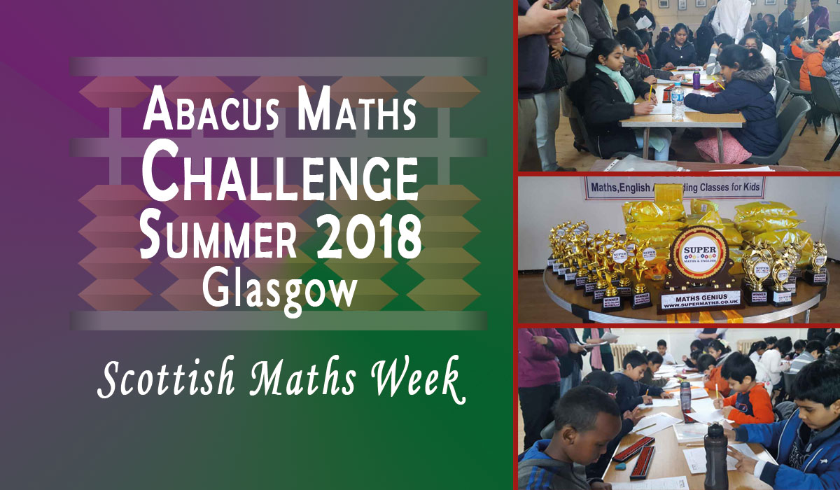 Scottish Maths Week with Abacus Maths Challenge